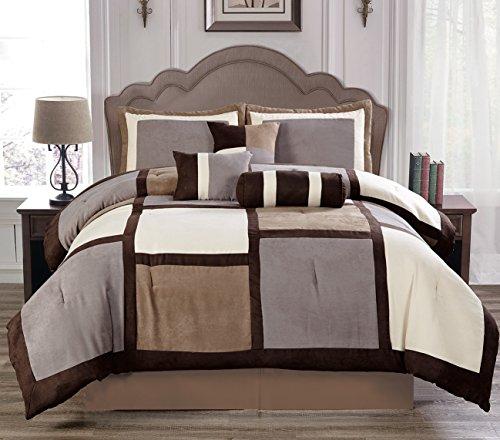 Empire Home luxurious 7 Piece Micro Suede Soft Comforter Set