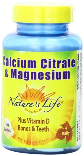 Nature's Life Cal Citrate and Mag, 1000/667 Mg, Plus Vitamin D, 100 Tablets Review