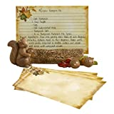 Grasslands Road Home Again Squirrel with Acorn Recipe Card Holder Set