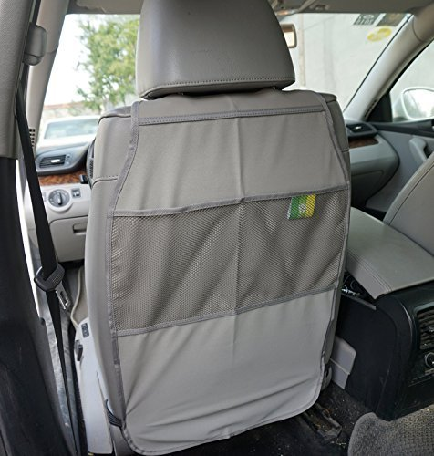 2 Count Kick Mats Car Seat Back Protector - Grey by Hhome
