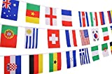 SPJ: International String Flags 50 Country Cloth Banner Length 49feet Colorful Various Party Events Olympic Decorations (11.8'' × 7.8'' 50countries)