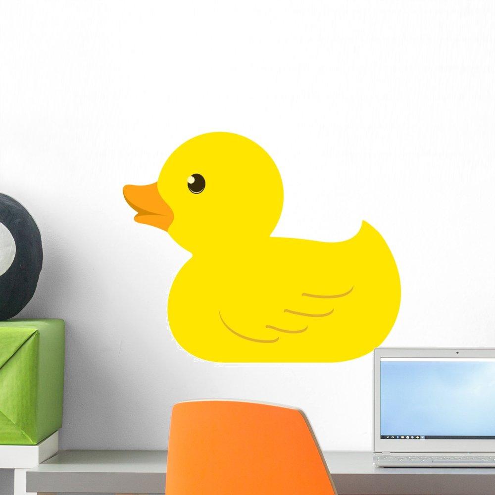 Amazon.com: Rubber Duck Wall Mural by Wallmonkeys Peel and Stick ...