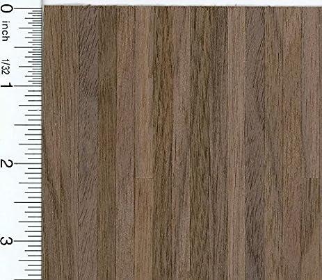 Amazon Dollhouse Miniature Black Walnut Wood Flooring Sheet By