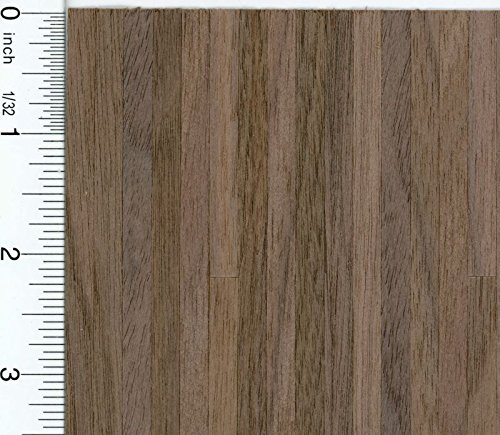 Dollhouse Miniature Black Walnut Wood Flooring Sheet by Houseworks ()