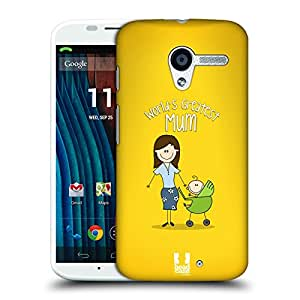 Head Case Designs Mum World's Greatest Family Protective Snap-on Hard Back Case Cover for Motorola Moto X