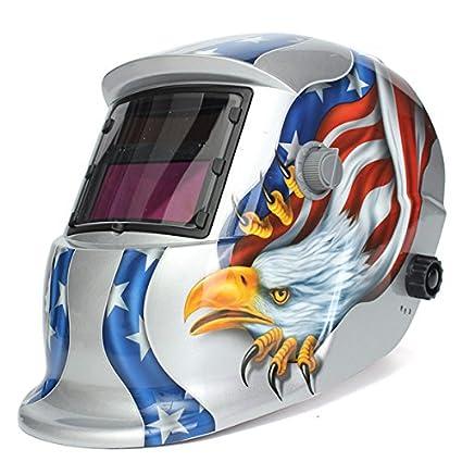 KUNSE Águila Solar Soldador Máscara Eléctrico Soldar Auto Oscurecimiento Soldadura Casco