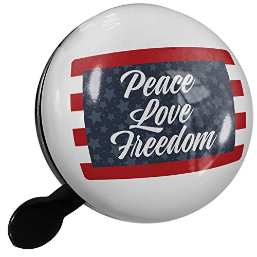 Small Bike Bell Peace Love Freedom Fourth of July Stars and Stripes - NEONBLOND by NEONBLOND