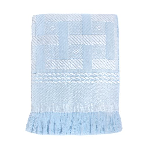Cozy Bed Elegant Baby Blanket, Blue