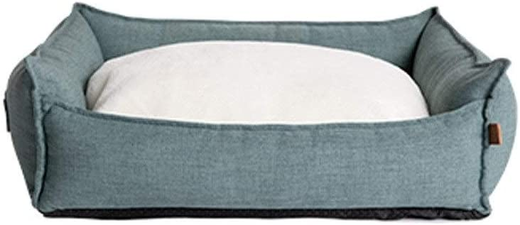 TYLDZ Kennel ,sofa cushion, small and medium dog bed small dog sleeping pad, dog sofa/dog pad/four seasons universal pet supplies. (Color : Dark green, Size : L)