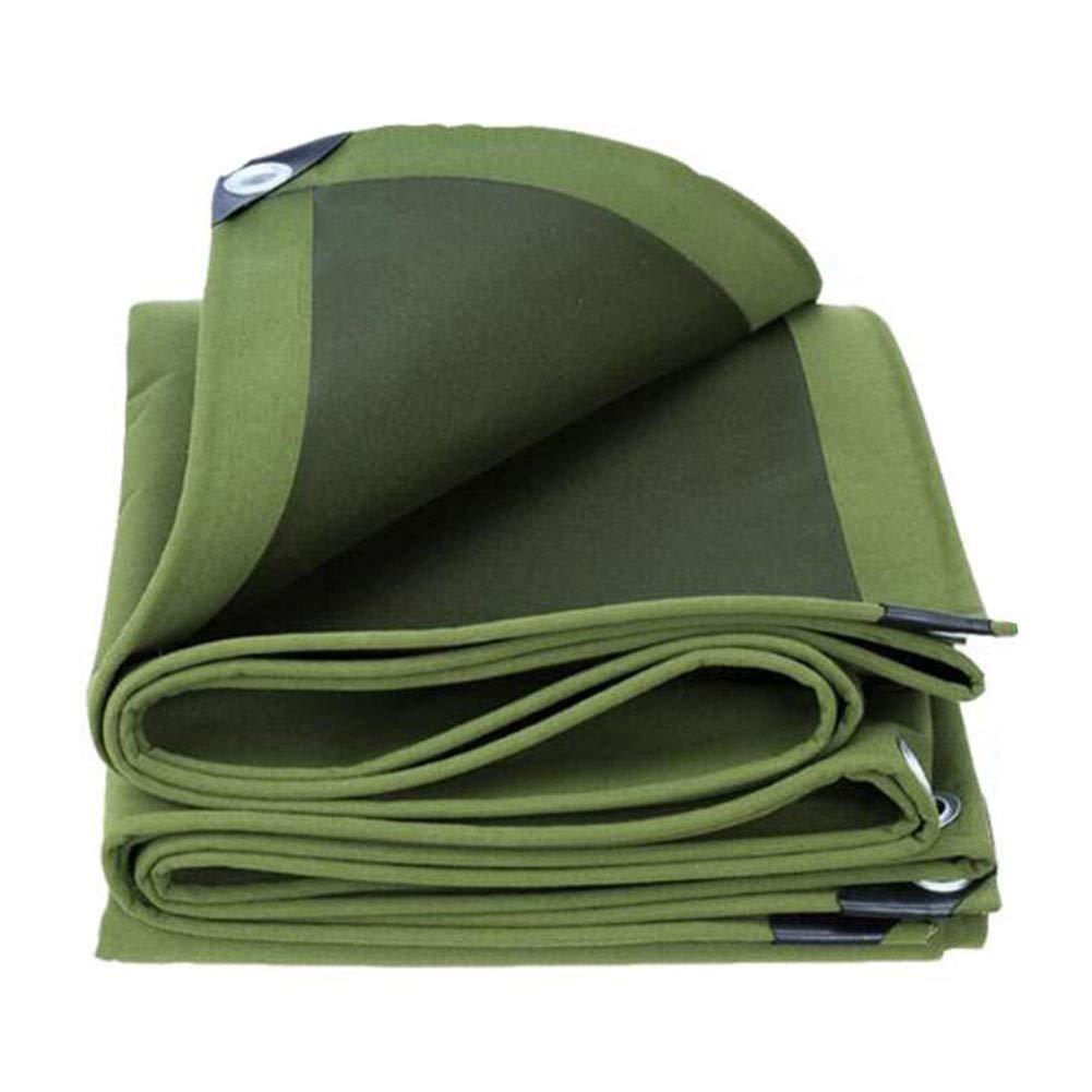 XUERUI シェルター 厚い キャンバス ターポリン、 ヘビーデューティ 防水 日焼け止め レインカバー 庭園 キャンプ 複数のサイズ スポーツ アウトドア (Color : 緑, Size : 4x10m) 緑 4x10m