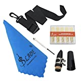 Clarinet Tools Set, Reeds Mouthpiece Belt Screwdriver Cleaning Cloth Kit Clarinet Parts Replacement Accessory