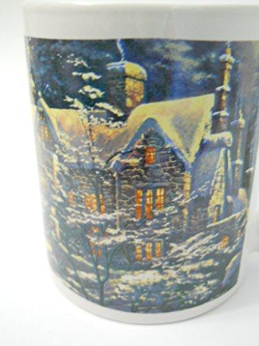 (Thomas Kinkade Coffee Mug Holiday at Spring Gate 2008 Stone House in Winter)