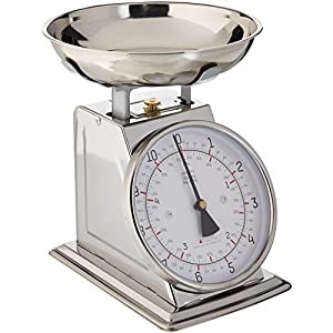 Taylor Stainless Steel Analog Kitchen Scale, 11 Lb. Capacity 51bVR6NFt8L