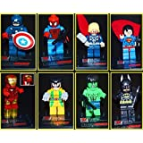 B-Creative 2017 8PC Marvel Avengers DC Super Hero Mini Figure Set Fits UK SELLER