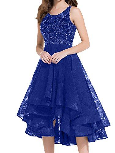 Blau Lo 2017 Neu Ballkleider Hi Spitze Cocktailkleider mit Charmant Damen Abendkleider Promkleider Schwarz Wadenlang Royal C6pwcXqR