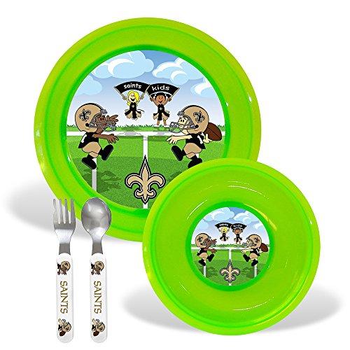 New Orleans Saints NFL BPA Free Toddler Dining Set (4 Piece)
