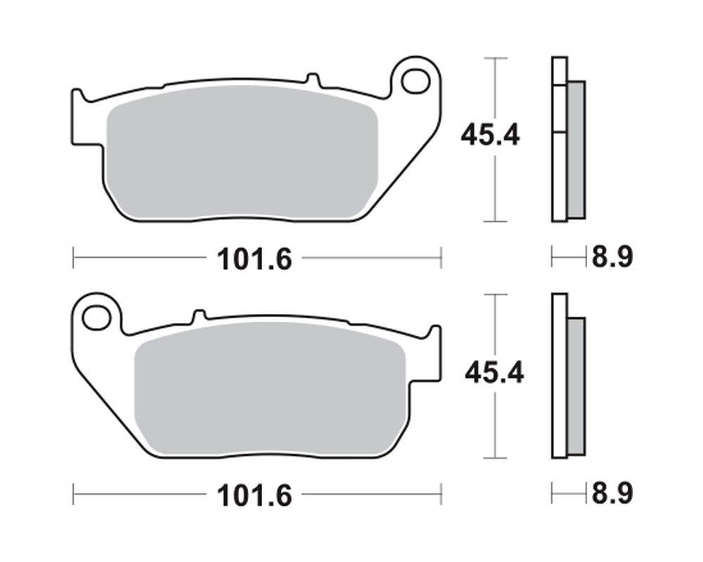 vorne Bremsbel/äge TRW MCB753SV f/ür Harley-Davidson XL 1200 X Forty-Eight Sportster 10-