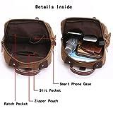 Leparvi Canvas Fashion Backpack Purse Rucksack One