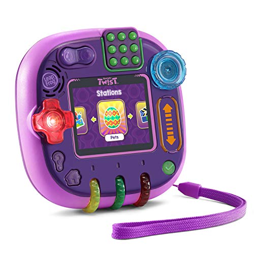 51bVRtokxfL - LeapFrog RockIt Twist Handheld Learning Game System, Purple