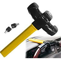 Sino Banyan Steering Wheel Lock,Drilling Twist & Picking Resistant,2 Key