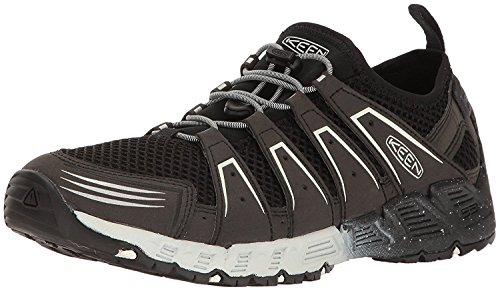 KEEN Mens Versavent Hiking Boot, negro/blanco estrella, 44.5 D(M) EU/10 D(M) UK