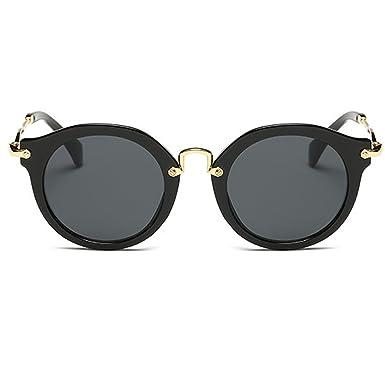 Mode Persönlichkeit Trend Sonnenbrille Retro Sonnenbrille , Silber Weiss