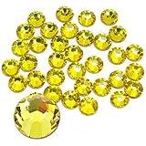 Jollin Glue Fix Crystal Flatback Rhinestones, Citrine, SS30 288pcs