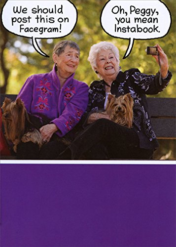 Old Ladies On A Bench Recycled Paper Greetings Funny Birthday Card For Her