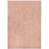 Olefin Solid Shag Area and Runner Rug Collection, 26x310 Pearl Blush