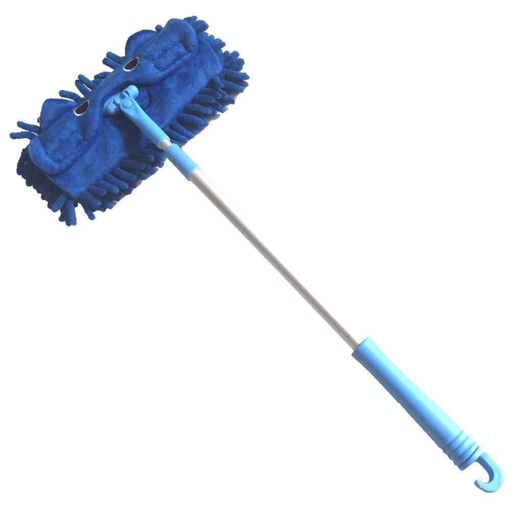 Xifan Mini Microfiber Chenille Cartoon Flat Dust Mop for Children,Detachable,360 degree rotation, Extension-type (Blue)