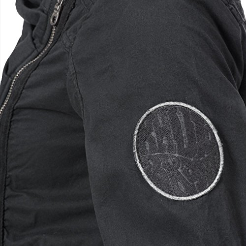 Abrigo Negro Khujo Abrigo Negro Mujer Mujer Para Khujo Para Ox8H5w4