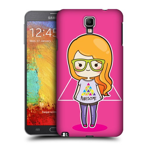 Head Case Designs Hipster Cool Girls Protective Snap-on Hard Back Case Cover for Samsung Galaxy Note 3 Neo N7505