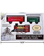 Christmas Train Set with Realistic Train Sound and Headlight - 13 Pcs