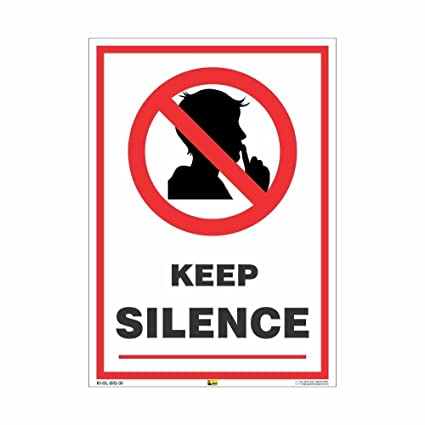 Mr Safe Keep Silence Sign Poster Sunboard A4 Amazon Industrial
