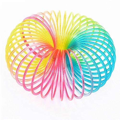 Jokes & Gags Magic Rainbow Coloured Slinky Spring Kids Fun