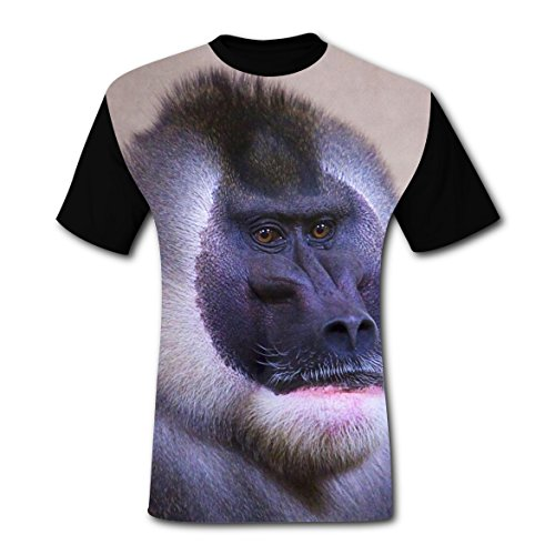 BYTimz Baboon Gorilla Monkey T-shirts Graphic Crew Neck Tees for Men