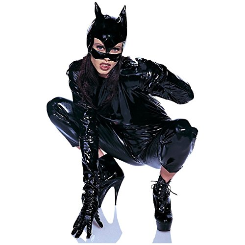 Vinyl Cat Woman Mask Costume (Best 80s Costumes Ever)