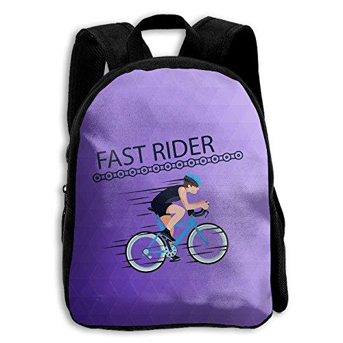 Kids School Bag Double Shoulder Print Backpacks Fitness Ride A Bike Travel Gear Daypack Gift (Tart Satchel)