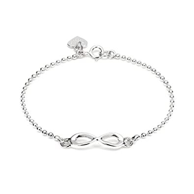 name silver brand infinity customized bracelet personalized symbol for sterling product women