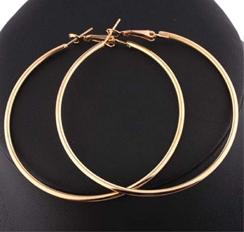 Fashion Large (3.54-inch) Hoop Earring Pair (GOLD)