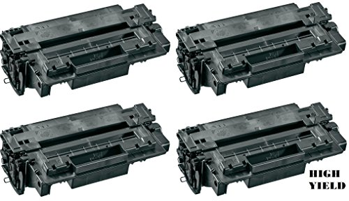 GLB Premium Quality Compatible Replacement For HP 11A(11X)/HP Q6511A(Q6511X) High Yield Black Laser Toner Cartridge for HP LaserJet 2410, 2420, 2430 Series Printers(4-Pack) 2420 2430 Series High Yield