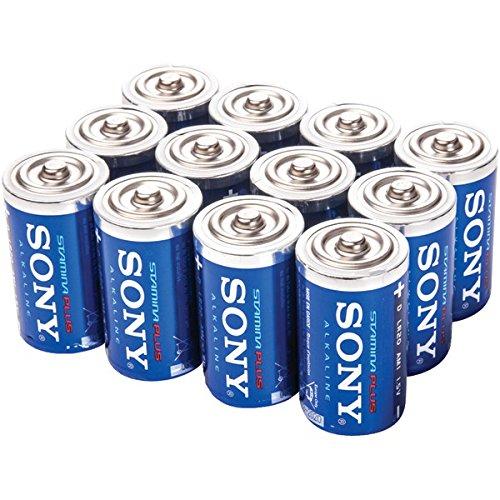 SONY SD-12BULK Stamina Plus Alkaline Bulk Batteries D, 12 Pack