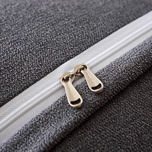 YALIXI Coussin de chevet en coton épais Triangle de chevet, amovible et lavable, dossier doux et confortable, gris 150 x 23 x 45 cm