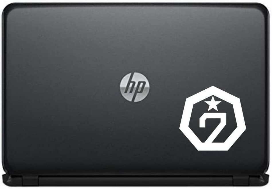 GOT7 Logo Vinyl Decal Sticker for Computer MacBook Laptop Ipad Electronics Home Window Custom Walls Cars Trucks Motorcycle Automobile and More (White)