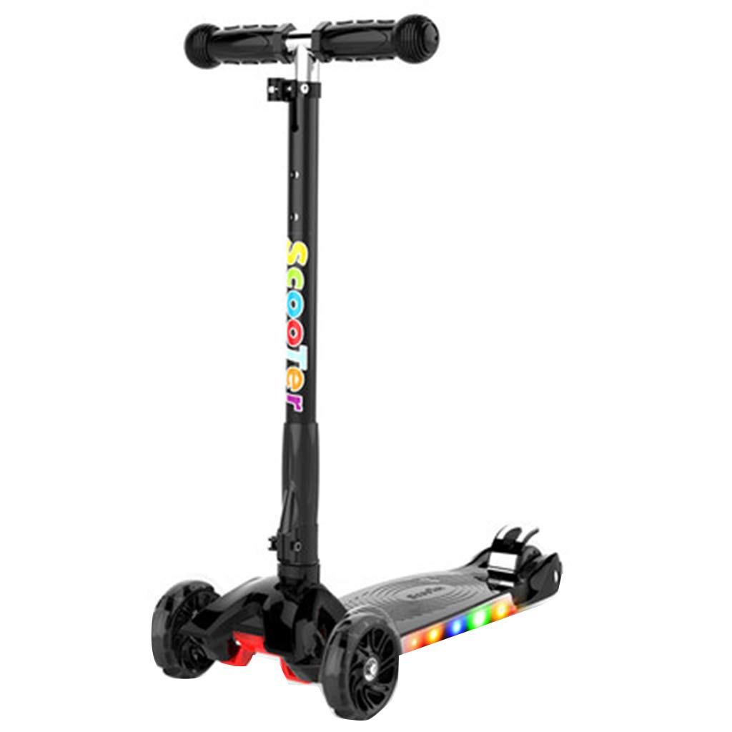C FJHHKick Scooters Kids Scooter Foldable Design Adjustable Handles Lean to Steer Light weight Boy and Girl Toys Outdoor Recreation Easy to Carry Light Weight