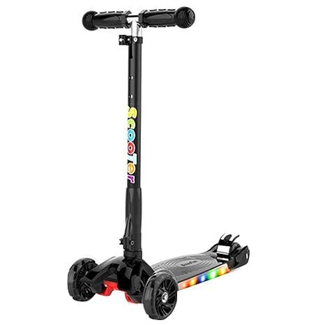 FJHH-Kick Scooters Patinete para niños, diseño Plegable ...