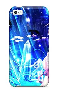 Slim Fit Tpu Protector Shock Absorbent Bumper Anime Girl Case For Iphone 5c
