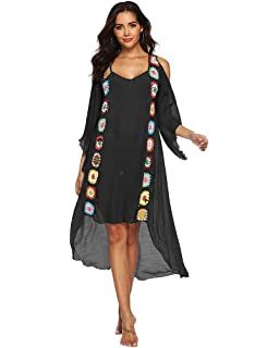 cdb6d82769 sanrense Women Bathing Suit Swimwear Cover Ups Beachwear Long Dress Bikini  Beach Cover Ups