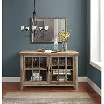 Better Homes and Gardens* Oxford Square TV Stand and Console for TVs up to 55 Weathered Weathered