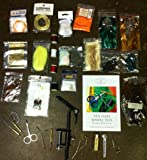 Fly Tying Kit For Beginners with Fly Tying Book + FREE Bonus - Great Holiday Gift